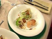 Caesar Salad mit Jakobsmuscheln à la Kleeberg - Rezept