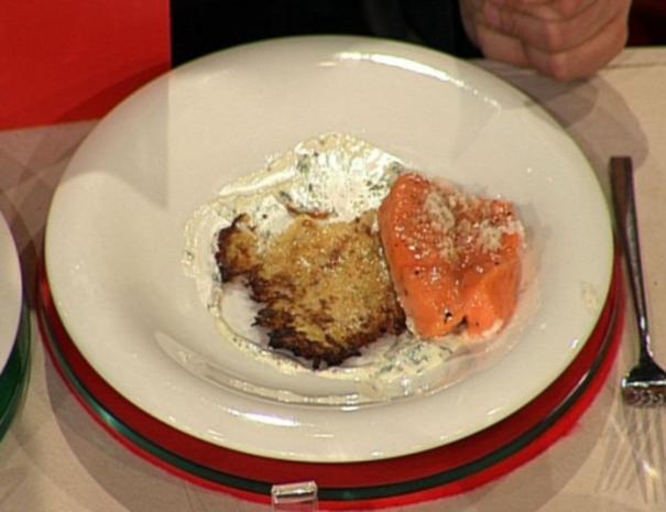 Puffer vom Rübchen mit frisch geräuchertem Lachs à la Kleeberg - Rezept