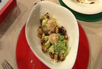 Rezept: Caesar Salad mit Jakobsmuscheln (Leo Bartsch)