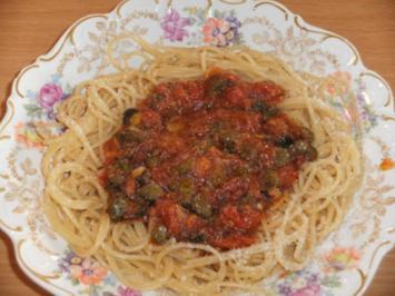 Hauptgericht: Spaghetti alla puttanesca - Rezept