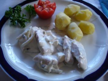 Matjesstipp mit Pellkartoffeln und Blattsalat - Rezept