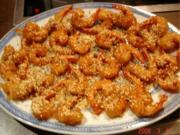 Frittierte Honig-Garnelen - Rezept