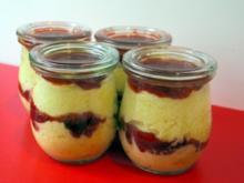 Zitronencreme mit  würziger Erdbeermarmelade - Rezept