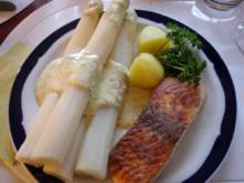 Lachs mit Spargel und Kartoffeln - Rezept