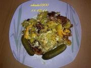 Pfannengerichte: Resteverwertung, Kartoffeln Pfanne mit Tomate und Ei - Rezept