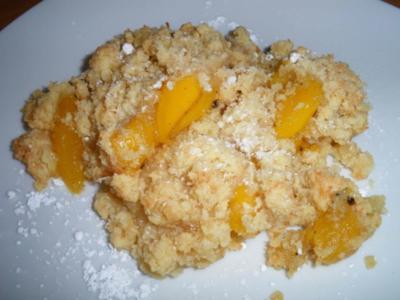 Mango-Crumble - Rezept