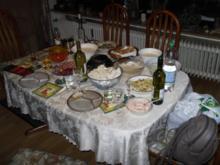 Weihnachtsfondue 2011 mit Zaziki und 9 Dips - Rezept