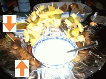 Mini Schaschlik Spieße aus der Friteuse - Rezept