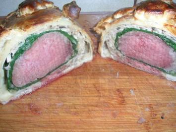 Filet Wellington - nach meiner Art - , mit Safransauce - Essen zum 3ten Advent - Rezept