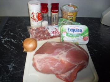 Gefüllte Schweine-Hüfte ala Moni - Rezept