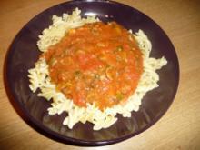Kunterbunte Tomatensoße - Rezept