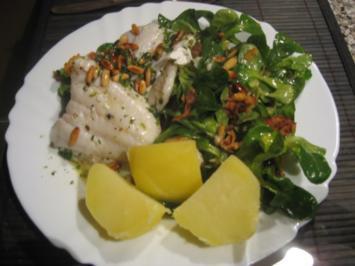 Zander auf Feldsalat - Rezept