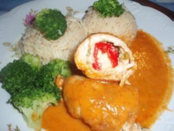 Fleisch: Schnitzel-Rouladen mit Kirschpaprikafüllung - Rezept