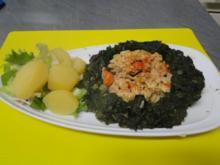 Spinat mit Rührei, muss nicht immer Spiegelei sein und kalorienarm - Rezept