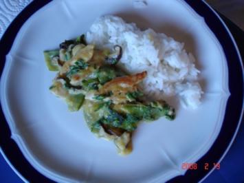 Chicken – Thai - Curry mit Mango - Rezept