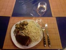 Fleisch: Gefülltes Schweinefilet mit Zucchini und Fusilli Bucati Lunghi - Rezept