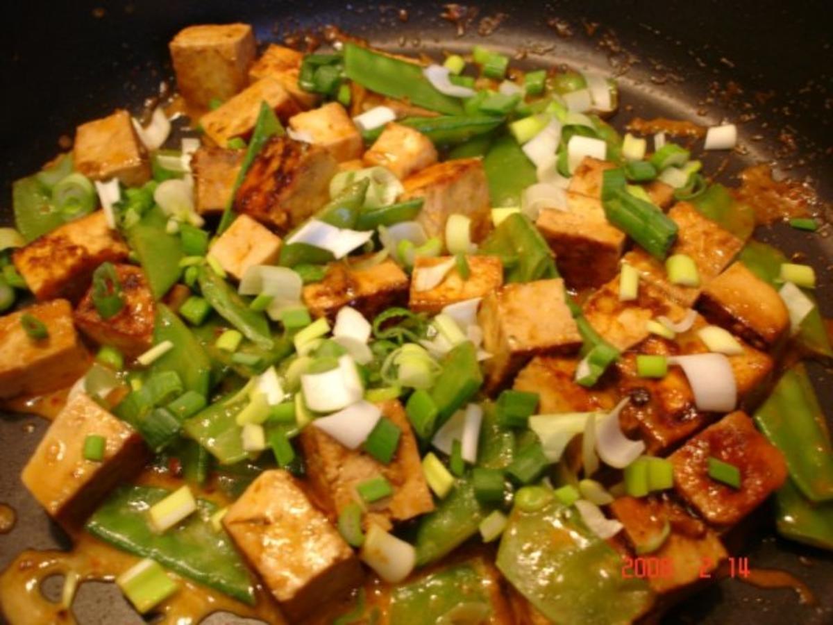 tofu mit zuckerschoten und currysauce rezept. Black Bedroom Furniture Sets. Home Design Ideas