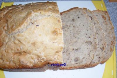 Backen: Nussiges Weihnachts-Dinkel-Brot - Rezept