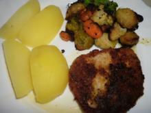 Wintergemüse an Kräuterschnitzel - Rezept