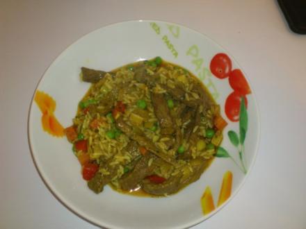 boto's Rindfleisch-Curry-Reispfanne - Rezept