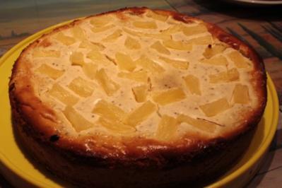 Kuchen: Frischkäse-Ananas-Kuchen - Rezept