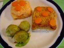Schlemmer-Filet à la Bordelaise mit Möhren-Kartoffelstampf und Rosenkohl - Rezept