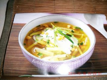 Kohlrabi-Suppe mit Wasabi - Rezept