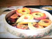 Karamell-Früchte mit Rosmarin-Joghurt-Creme - Rezept