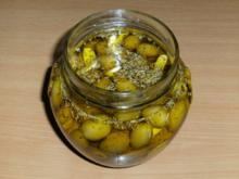 Einlegen: Oliven, grün, pikant eingelegt - Rezept