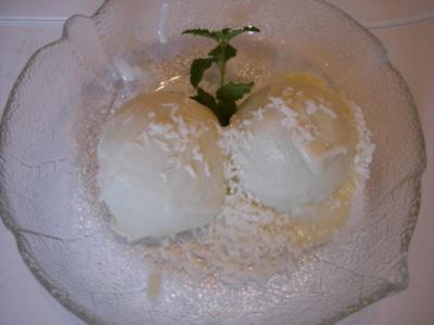 Kokos-Eis - Rezept