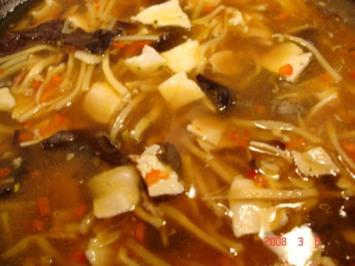 Süß-saure-scharfe Suppe - Rezept