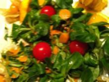 Fruchtiger Feldsalat.. mit Kokos-Dressing.. zum Steak.... - Rezept
