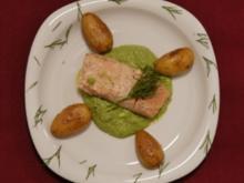 Lachs auf Grüner Soße mit Schwenkkartoffeln (Radost Bokel) - Rezept