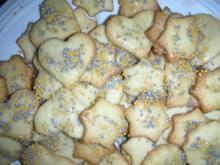 Einfache Kekse aus Muerbteig - Rezept