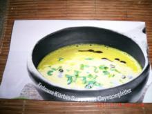 Erdnuss-Kürbis-Suppe mt Cayennepfeffer - Rezept