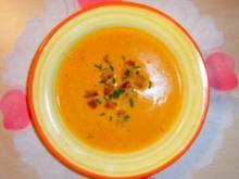 Karotten-Cremesuppe mit Ingwer - Rezept