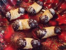 Weihnachtsplätzchen: Kokos-Schoko-Stangen - Rezept
