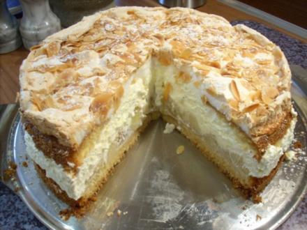 Apfel-Schnee-Torte - Rezept
