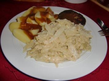 Rahm-Weißkohl - Rezept