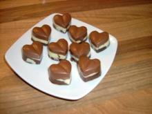 Keks Pralinen schwarz weiß - Rezept
