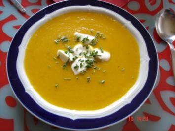 Ingwer-Möhren-Suppe - Rezept