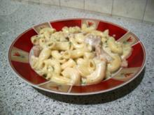 Nudel-Hähnchenpfanne in Frischkäsesauce - Rezept