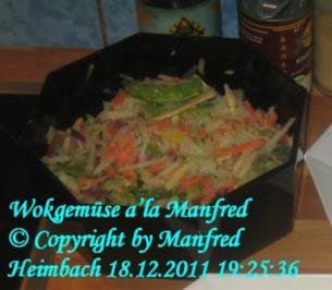 Gemüse – Manfred's asiatische Wok-Gemüsemischung - Rezept