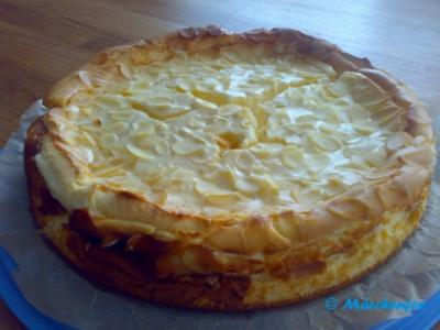 Quarkkuchen mit Mandeln - Rezept