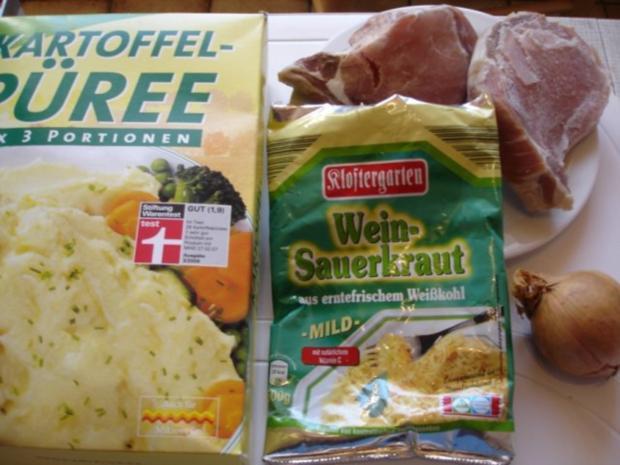 Kassler Kotelett mit Sauerkraut und Kartoffelpüree - Rezept - Bild Nr. 2