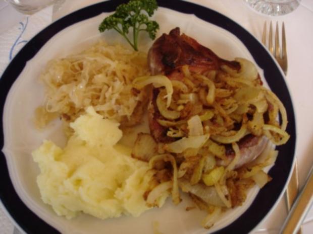 Kassler Kotelett mit Sauerkraut und Kartoffelpüree - Rezept - Bild Nr. 10