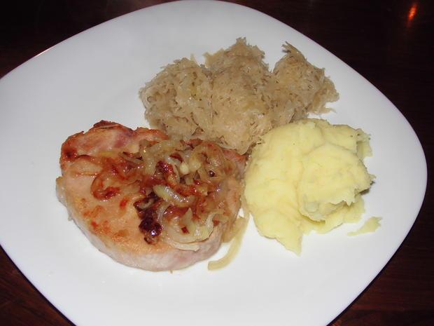 Kassler Kotelett mit Sauerkraut und Kartoffelpüree - Rezept - Bild Nr. 11