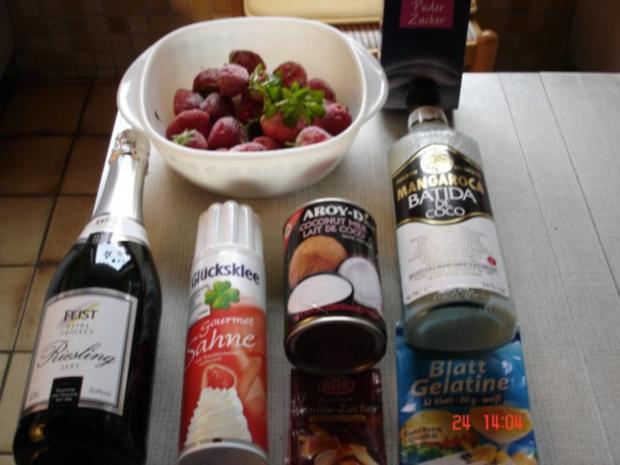 Kokosnuss-Erdbeer-Dessert - Rezept - Bild Nr. 2