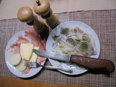 Häckerle - Schlesische rustikale Beilage mit Salzheringen - Rezept - Bild Nr. 6855