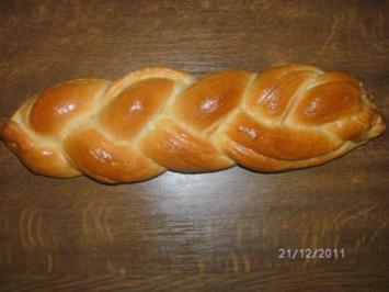 Rezept: Butter-Hefe-Zopf
